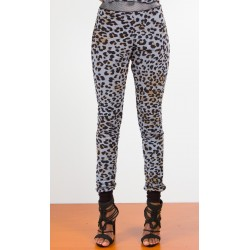 Leopard Track-leisure Pants