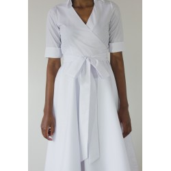 Kari Cotton Wrap Dress